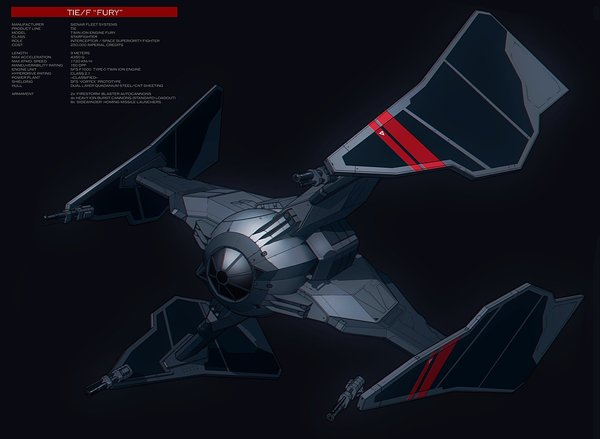 TIE Fury Star wars, x-Wing, 3d модель, Арт, Картинки