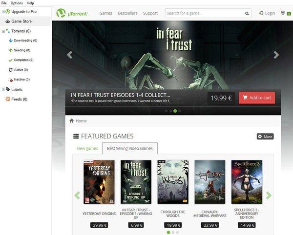 UTorrent начал продавать игры Utorrent, Bittorrent, Steam, Пиратство, Пираты, Компьютерные игры