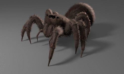 Как ходит паук