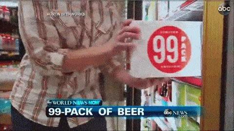 Одна упаковка пива.