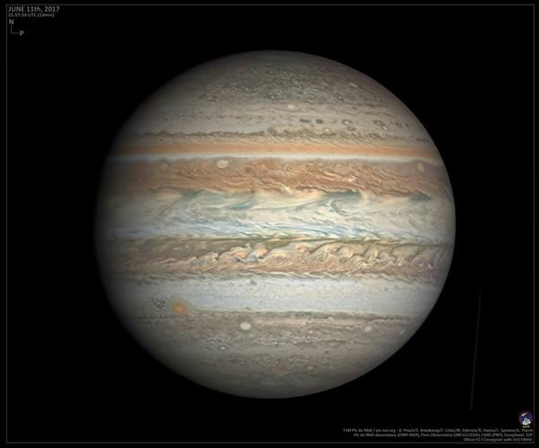 Самое детальное наземное изображение Юпитера в истории Юпитер, фотография