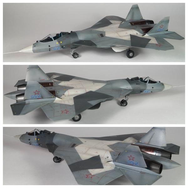 Пятничное моё - Сборная модель ПАК-ФА в масштабе 1/72 моделизм, авиация, ПАК-ФА, ARK-Models, стендовый моделизм, Сборная модель, 052, моё
