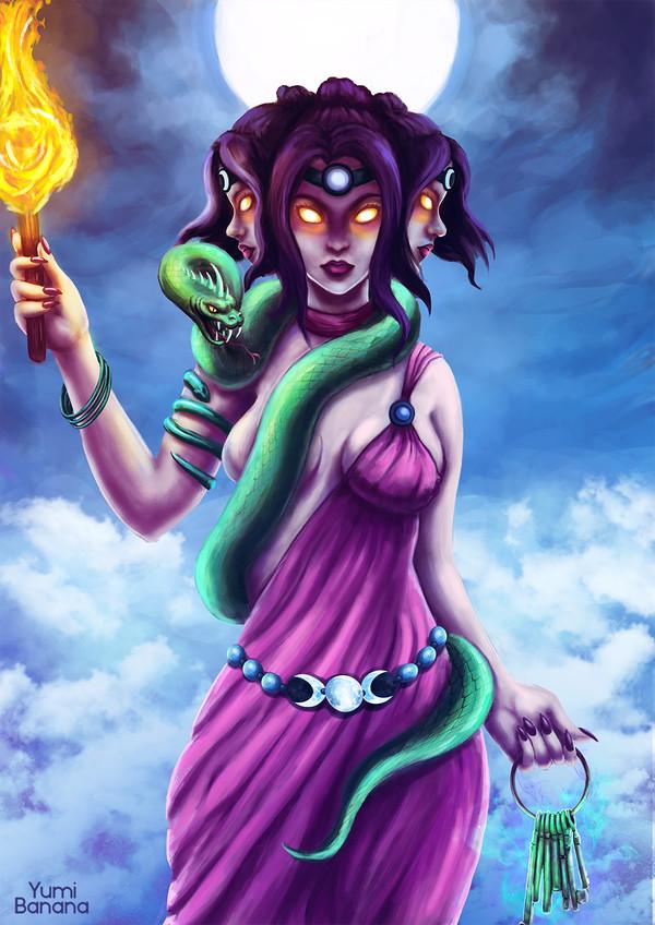 Геката Арт, Древнегреческие боги, Геката, Digital, Photoshop