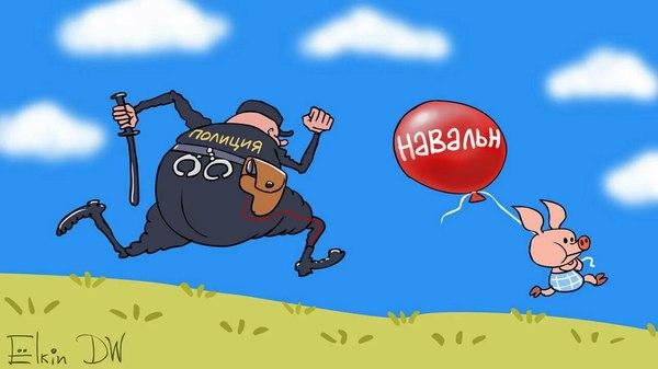 Типичные выходные Политика, Алексей Навальный, Карикатура