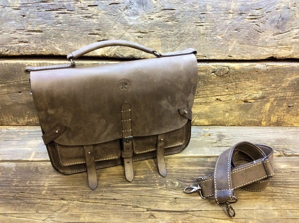 БабаКожевник. Ещё один красавец портфель. Кожаный портфель, Изделия из кожи, Ручная работа, Рукоделие с процессом, Длиннопост