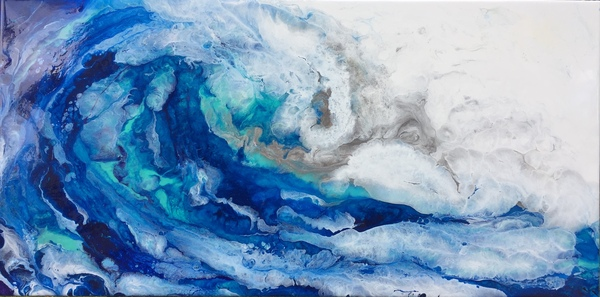 Для тех кто любит абстракции выполненные эпоксидной смолой. абстракция, море, волна, эпоксидная смола, epoxi, resin, Resin pourin, krasovsky, видео, длиннопост