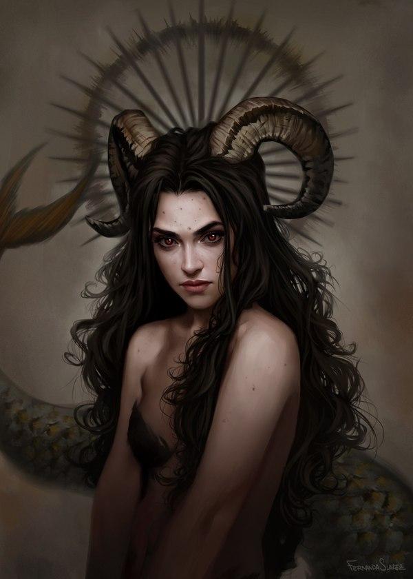 Capricorn Арт, Козерог, Девушки, Fantasy, DTPA