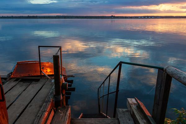 Вечер фотография, река, Кама, Пермь, хочукритики
