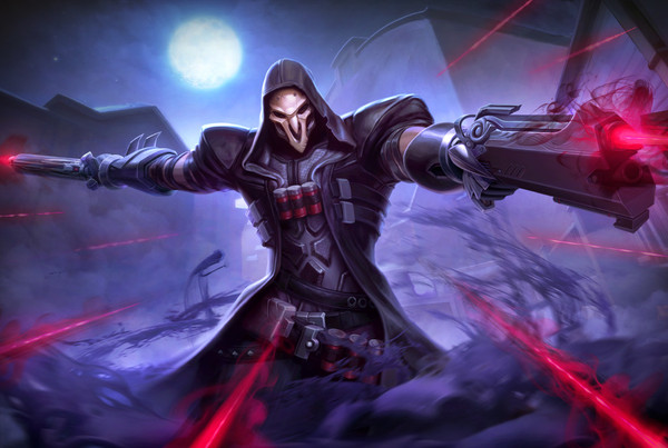 Reaper Overwatch Art Overwatch, Reaper, Жнец, Арт, Mike Capprotti