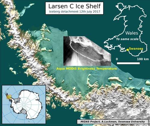 Гигантский ледник откололся от Антарктиды Антарктида, Айсберг, География, Климатология, Длиннопост