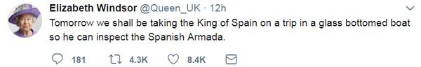 Король Испании приехал с визитом в Англию. Twitter, Юмор, Фейковые аккаунты