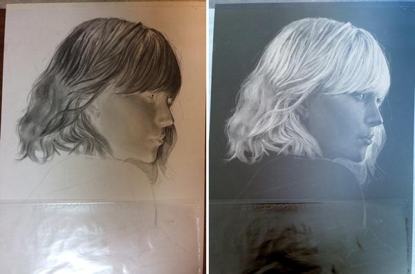 Atomic Blonde/Charlize Theron Atomic Blonde, Шарлиз Терон, арт, рисунок, негатив, Negative, обратные цвета, длиннопост