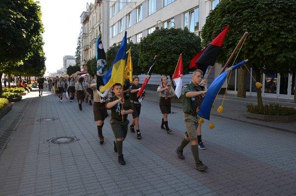 """Украинские скауты-""""пластуны"""". Гитлерюнге. Как это было в Крыму. нацисты, Скауты, Нацистская Украина, Политика, Крым, длиннопост, видео"""