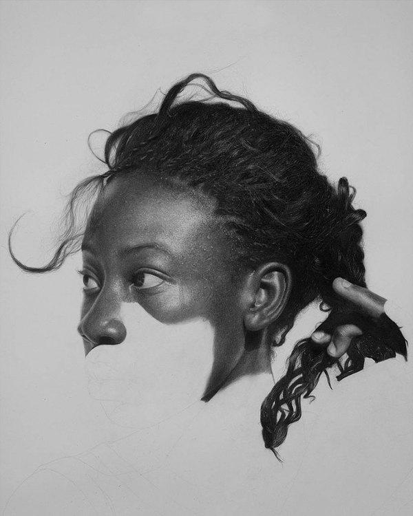 Рисунок карандашом рисунок, карандаш, Arinze Stanley, длиннопост