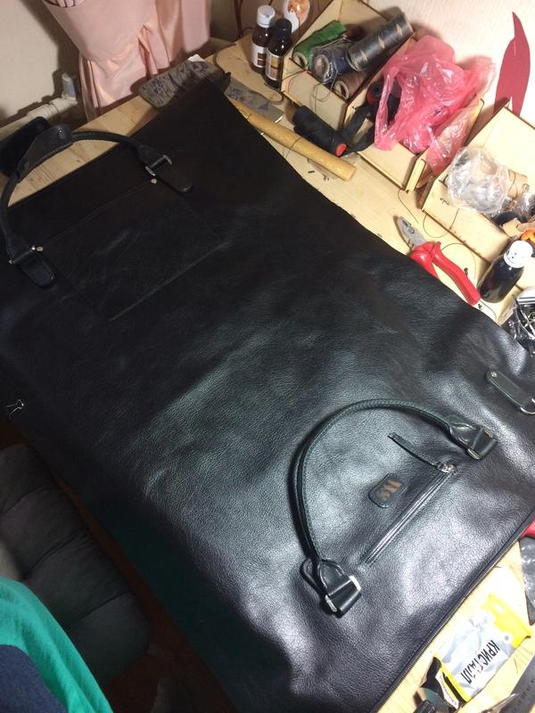 Дорожная сумка. Еще один проект. дорожная сумка, изделия из кожи, рукоделие без процесса, kopitsyn leather, длиннопост