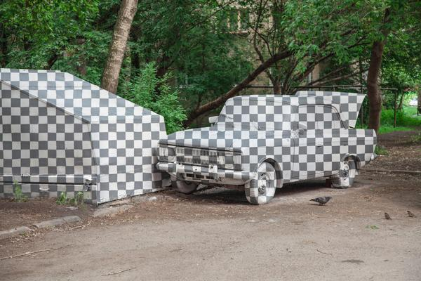 Вырезанная машина в Екатеринбурге: зачем мы это сделали граффити, стрит-арт, Стенограффия, Екатеринбург, арт, длиннопост