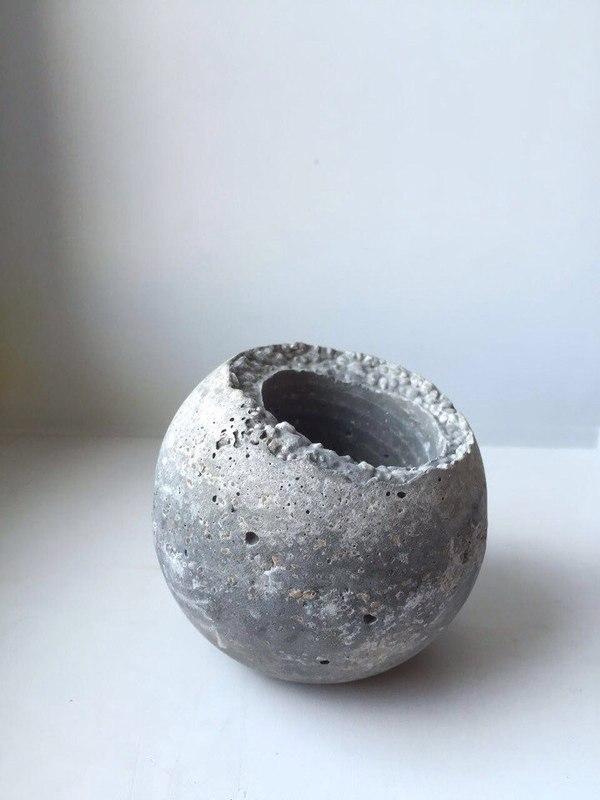 Как сделать горшочек-луну из бетона. Украшение дома. рукоделие, бетон, handmade, урок, Туториал, сделай сам, ручная работа, длиннопост