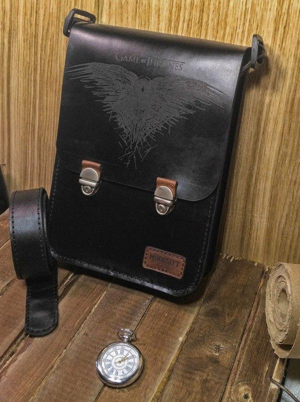 """Мужская сумка-планшет. Оформление - """"Игра престолов"""" изделия из кожи, Кожевенное ремесло, рукоделие без процесса, ручная работа, Игра престолов, длиннопост"""