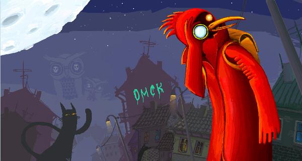 Добро пожаловать домой. Омск, Омская птица, Крышекот, Roofcat, Doom bird, Welcome to omsk, Иллюстрации, Арт, Длиннопост