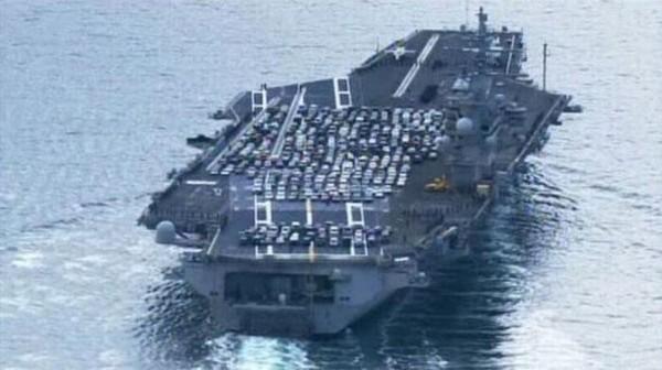 Странный груз авианосца техника, флот, авианосец, Корабль, Интересное, необычное, прикол, фотография, длиннопост