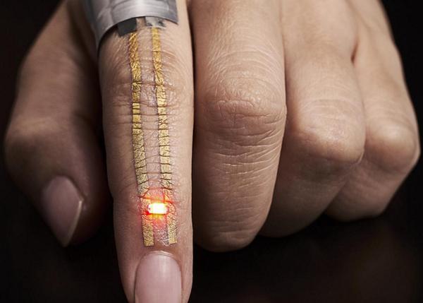 Золотые «татуировки» для носимой электроники нанесут прямо на кожу наука, новости, IT, материалы, тату, электроника