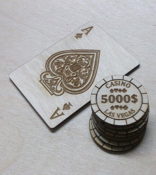 Роял флеш лазерная резка, дерево, своими руками, декор, покер, рукоделие с процессом, длиннопост