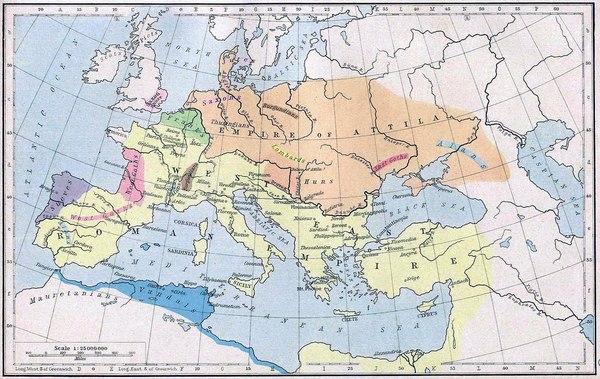 Последние римляне. Готы, Вестготы, Гунны, Атилла, Аэций, Длиннопост