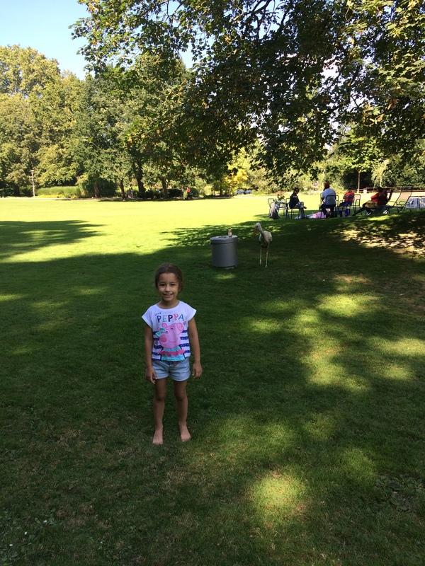 Моя дочь впервые увидела аиста Аист, Дети, Длиннопост