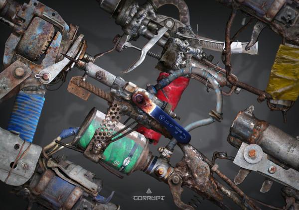 Привет Пикабу! Хочу поделится своими новыми концептами постапокалиптического оружия :) арт, Игры, длиннопост, Оружие, рисунок, концепт, постапокалипсис, видео