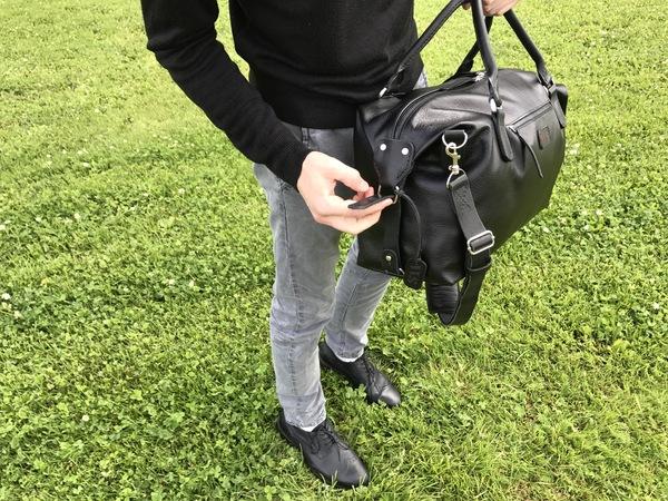 Дорожная сумка из прошлого поста. Небольшой фотосет. рукоделие без процесса, дорожная сумка, изделия из кожи, kopitsyn leather, длиннопост