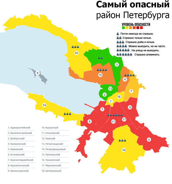 Районы Питера