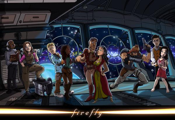 Необычная интерпретация героев Светлячка Serenity, Светлячок, Арт, Экипаж