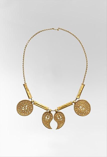 Византийское золотое ожерелье с медальонами, VII век византия, ожерелье, ювелирное искусство, золото, длиннопост