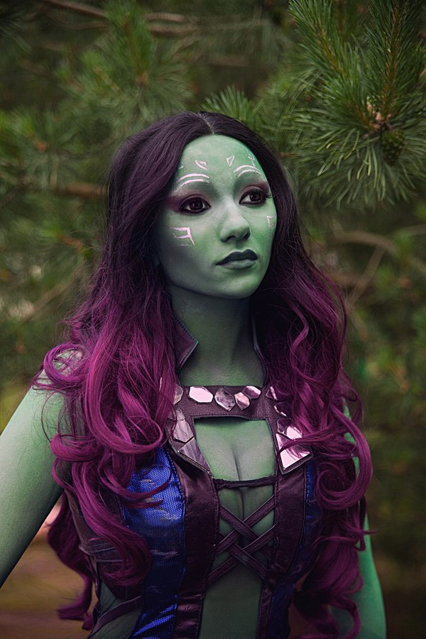 """Мой косплей на Гамору (""""Стражи галактики"""") Стражи галактики, гамора, Косплей, Marvel, девушки, avaexpo, vkfest, длиннопост"""
