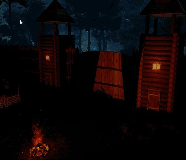 """Проект """"Night is coming"""". Дневники разработчика #7 : Поселенец, одежда, хижина лесоруба,шахта, элементали и волкодлак. Gamedev, Инди-Разработка, Компьютерные игры, Арт, Картинки, Гифка, Длиннопост"""