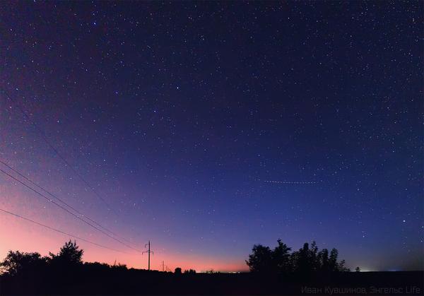 Звездное небо Энгельс, звездное небо, звёзды, Небо, млечный путь, ночь, поле