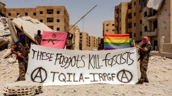 В Рожаве (Сирийский Курдистан) создано подразделение анархогомосексуалистов Сирия, ИГИЛ, SDF, геи, Курдистан, политика, гомосексуализм, война