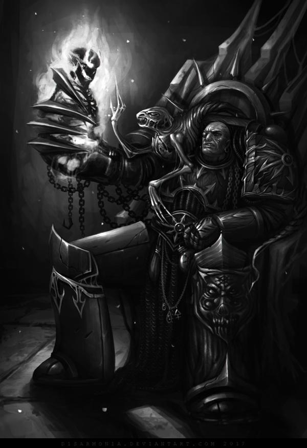 Huron Blackheart Warhammer 40k, d1sarmon1a, wh art, хаос, космодесант, гурон