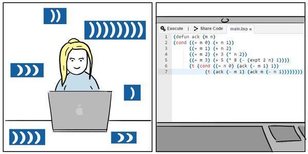 Новость 343: Женщины превзошли мужчин в редактировании кода Образовач, баян, программист, женщина, Мужчина, Lisp, Комиксы, юмор