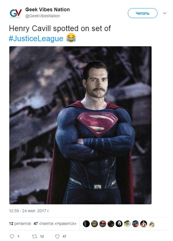 Mustachemen Лига справедливости, Супермен, Зак снайдер, Комиксы, Генри Кавилл, Длиннопост