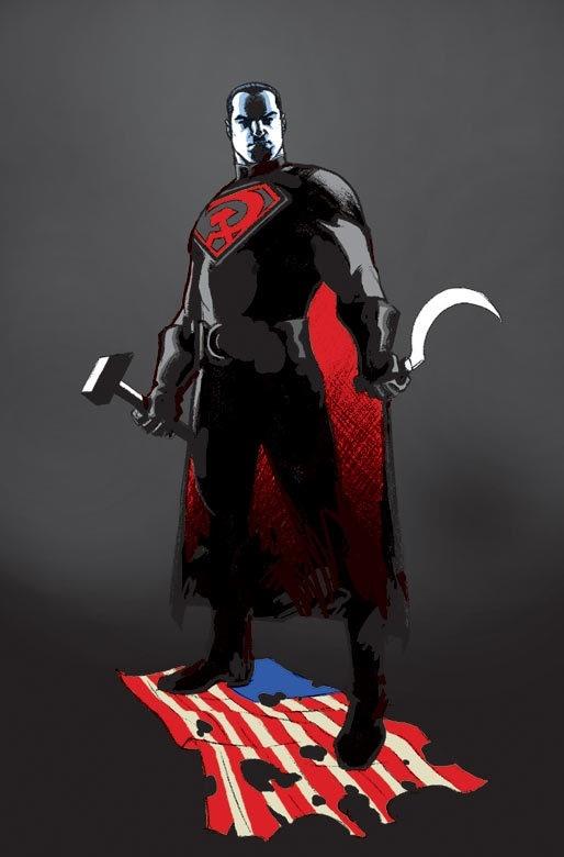 Супер-товарищь vs Ватман. Super-man, Batman, красный сын Red son, совок