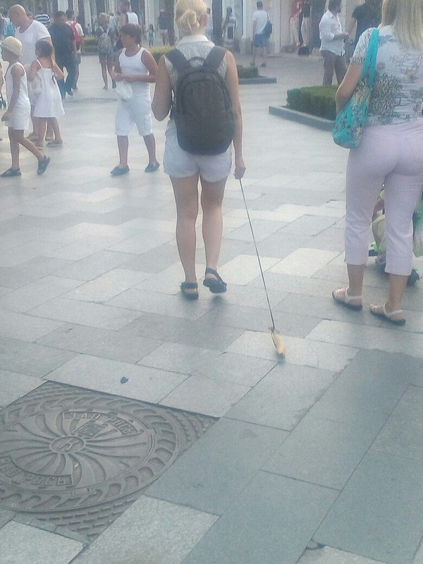 А вообще я хотела собаку... Крым, Ялта, набережная, банан, прогулка, не мое, длиннопост