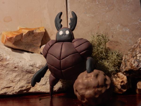 Dung defender Hollow knight, полимерная глина, творчество, длиннопост