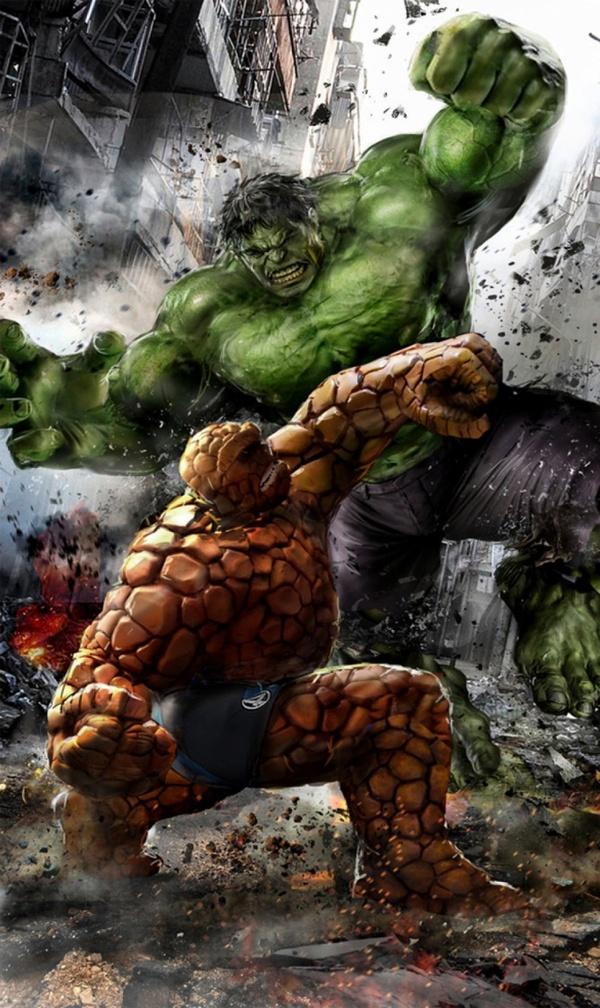 Классный арт: Существо vs Халк Marvel, Комиксы, Арт, Халк, Существо