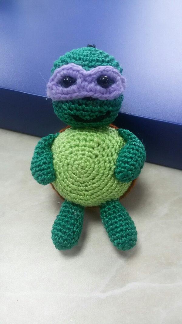Вот такую игрушку недавно себе приобрёл. черепашки ниндзя, мягкая игрушка, ручная работа, длиннопост