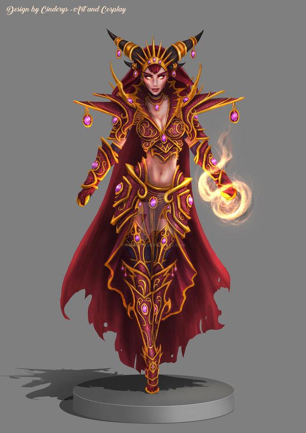 Великая пятерка аспектов в представлении Cinderys Cinderys, Аспекты, wow, World of Warcraft, blizzard, арт, Rumastud, длиннопост