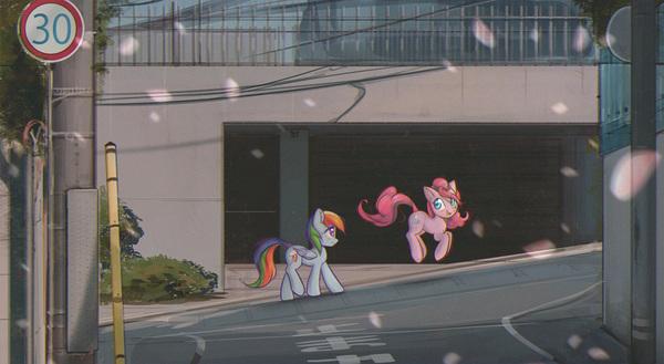 Sakurasuperlove My Little Pony, ponyart, Pinkie Pie, Rainbow Dash