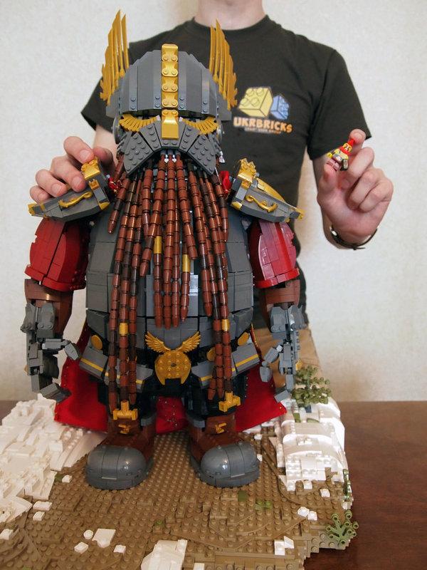 Лего-Дварф Warhammer, lego, модель, дварф, гномы, длиннопост, total war