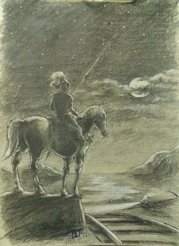Рэй Брэдбери. Дракон. 1955. Моя иллюстрация. А4. рисунок карандашом, рэй брэдбери
