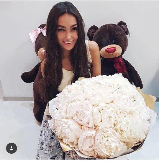 А где игрушки такие обитают? (найдено) подарок девушке, Плюшевый медведь, медведь, цветы, мило, милота, поздравление, сюрприз